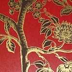 26301007.CS Paradise Tree Red/Gold by Cole & Son