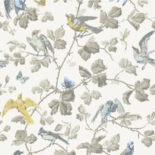 100/2008.CS Winter Birds Yellow & Grey by Cole & Son
